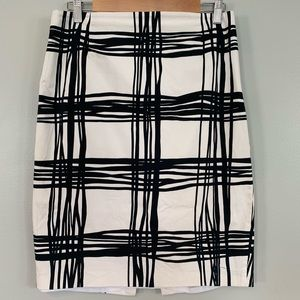 Express windowpane pencil skirt